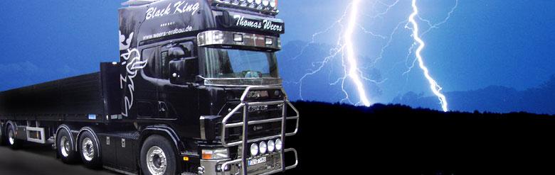 Sattelzugmaschine Scania mit Auflieger